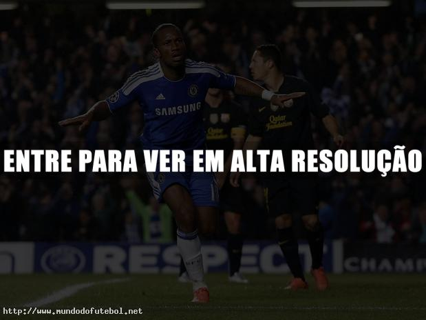 Chelsea, Barcelona, Drogba, comemorao, UEFA Champions League